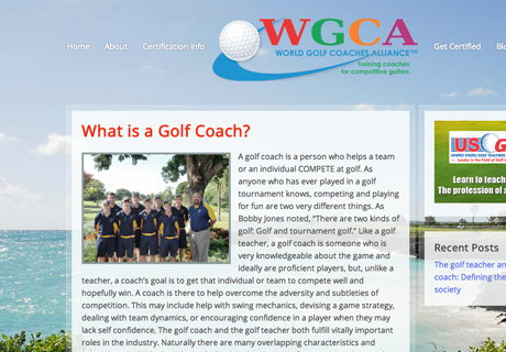 World Golf Coaches Alliance